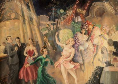 Robert BESSON-BUSSY (XXème siècle)  Fête...