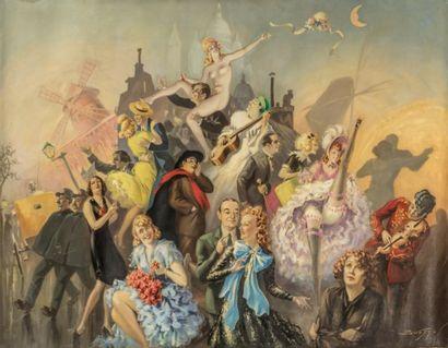 Robert BESSON-BUSSY (XXème siècle)  Le bal...