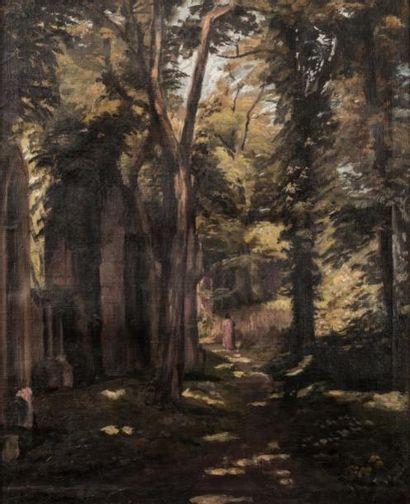 Emile BERNARD ( 1868-1941)  Le sous bois...