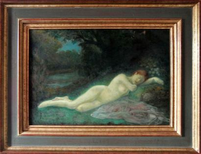 283B  Jean GREGORIAN (XIX-XXe)  Nu endormi...