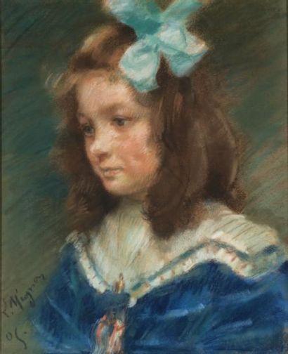 Lucien MIGNON (1865-1944)  Jeune fille de...
