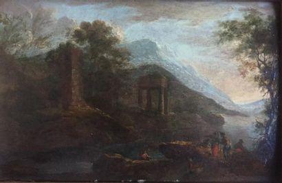 Ecole française Début du XIXème siècle  Paysage...