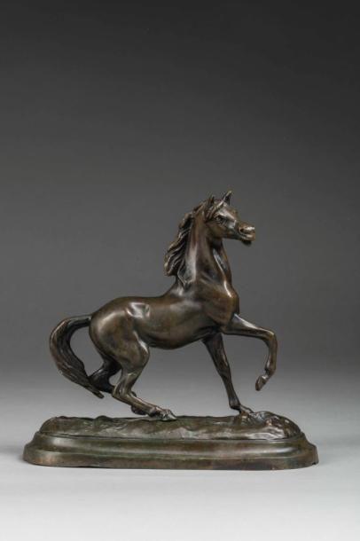 FADY (XXème siècle)  Cheval cabré  Sculpture,...