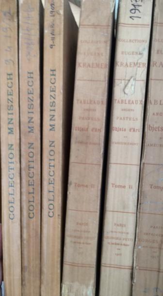 Catalogues de ventes 1912/1913  6 volumes...