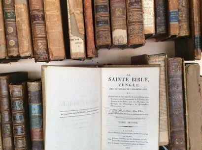 Environ 60 livres anciens XVIIIème et XI...