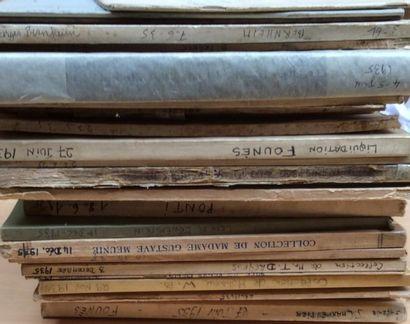 20 Catalogues anciens de 1935  Collections...