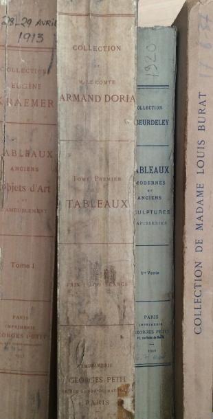 Catalogues de ventes 1899/1913/1920/1937...