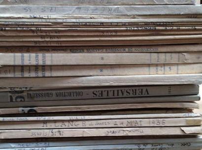 26 catalogues de 1934 à 1937  Collections...