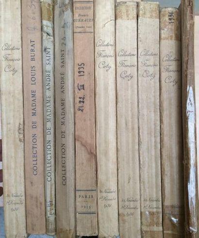 10 Catalogues de ventes  Coty, Burat, André...