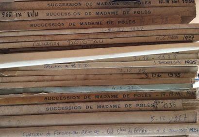 20 Catalogues de ventes anciennes  Collections...