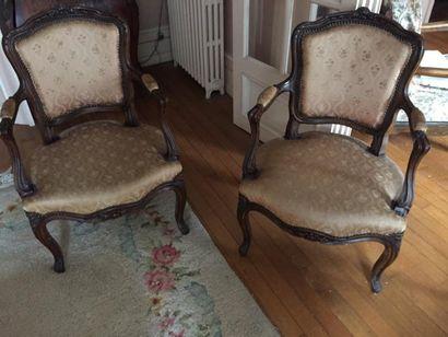 Deux fauteuils style Louis XV