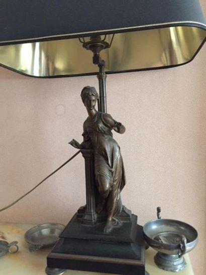 Sculpture en bronze (monté en lampe)