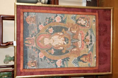 Tibet, fin XIXe-début XXe siècle  Thangka...