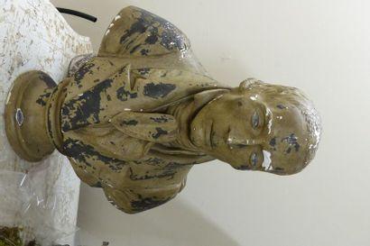 Buste d'homme en platre peint  Dans le goût...
