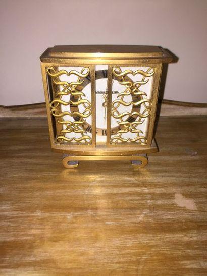 JAEGER-LECOULTRE  Pendulette-réveil en bronze...