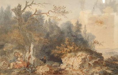 Attribué à Louis Joseph MASQUELIER père (1741-1811)...