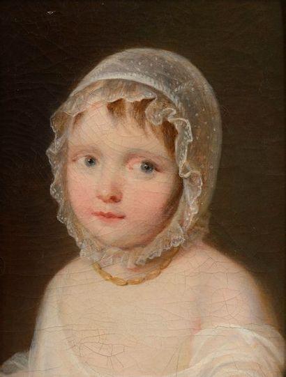 École française du XVIIIe siècle  Portrait d'enfant  Huile sur toile  35 x 27 c...