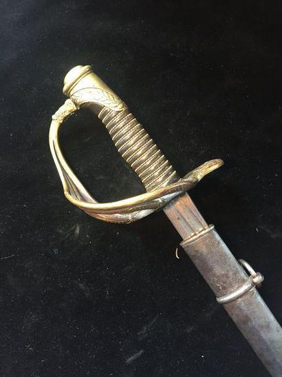 Sabre d'officier de Dragons modèle 1854 transformé...