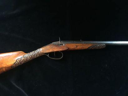 Carabine de tir système flobert    calibre 6mm, canon octogonal signé COTTE arquebusier...