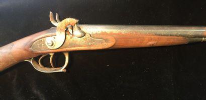 Fusil de chasse à percussion    canons en...