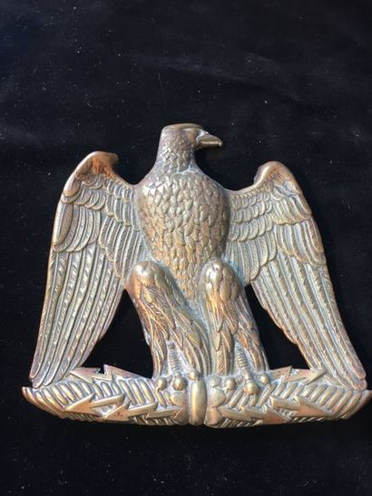 plaque de giberne a l'aigle impérial    époque...