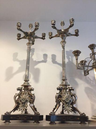 PAIRE DE LAMPES anciennement CANDELABRES...