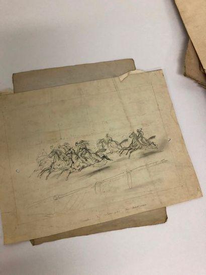 Dans un carton    Environ 120 dessins, gravures,...