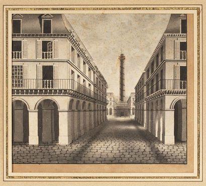 Ecole française du XIXème siècle    Vue d'architecture...