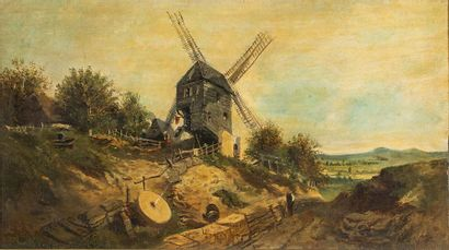 Ecole française du XIXème siècle    Le moulin...