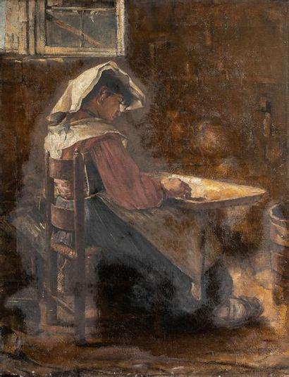 Ecole italienne du XIXème siècle    La trieuse...