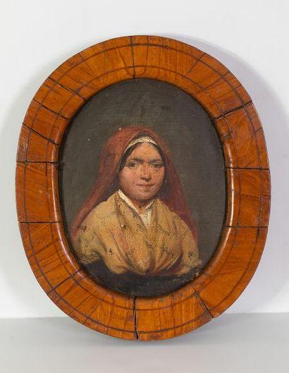 Ecole italienne du XIXème siècle    Portrait...