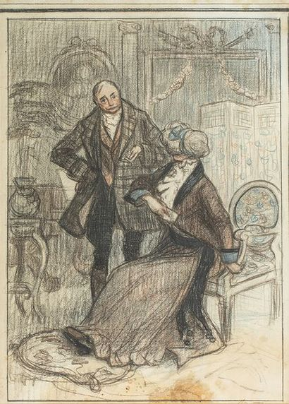 Ecole française du XIXème siècle    Couple...