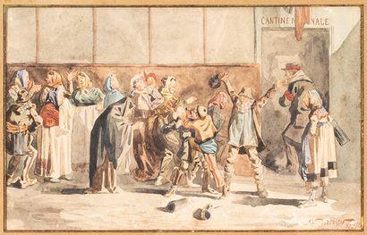 G LAFOSSE (XIXème siècle)    La cantine nationale...
