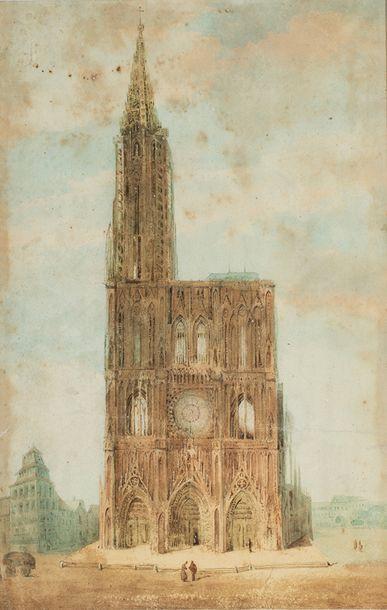 Ecole française du XIXème siècle    Cathédrale...