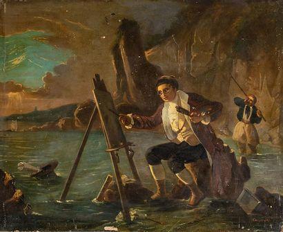 Ecole française du XIXème siècle    Peintre...