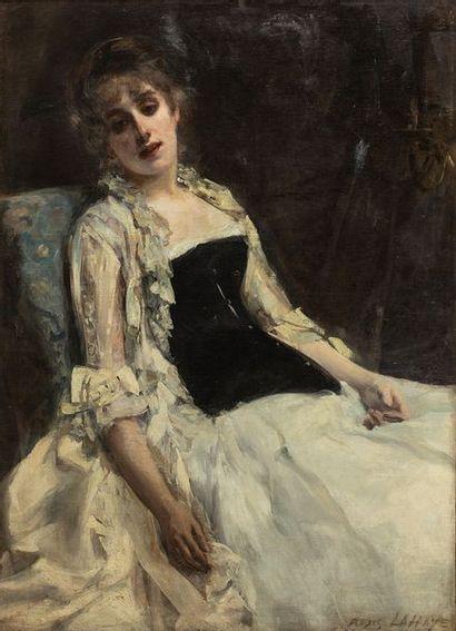 Alexis LAHAYE (1850-1914)    Portrait d'une...