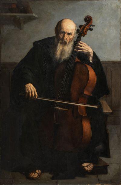 Edouard MOYSE (1827-1908)    Le violoncelliste...