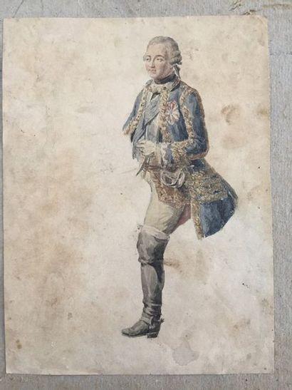 Ecole française du XVIIIème siècle    Homme...