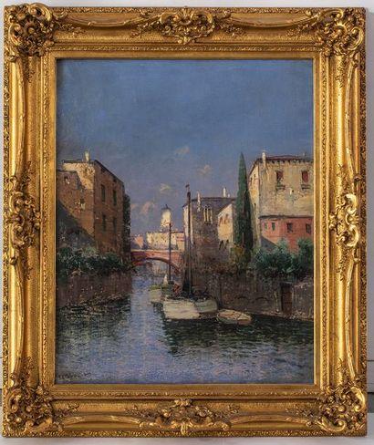 Pierre THEVENET (1870-1937)  Venise  Huile...