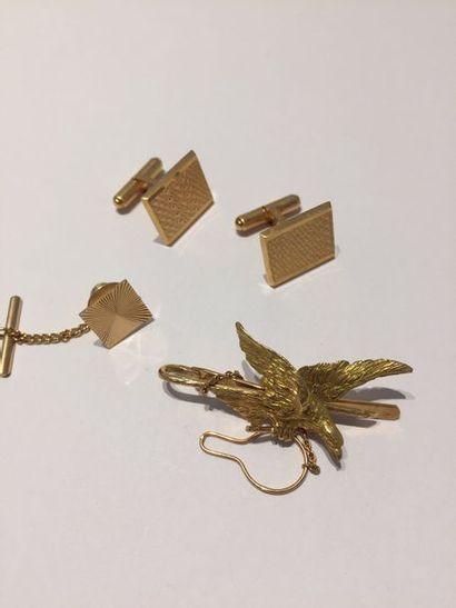 LOT en or jaune (750 millièmes) comprenant...