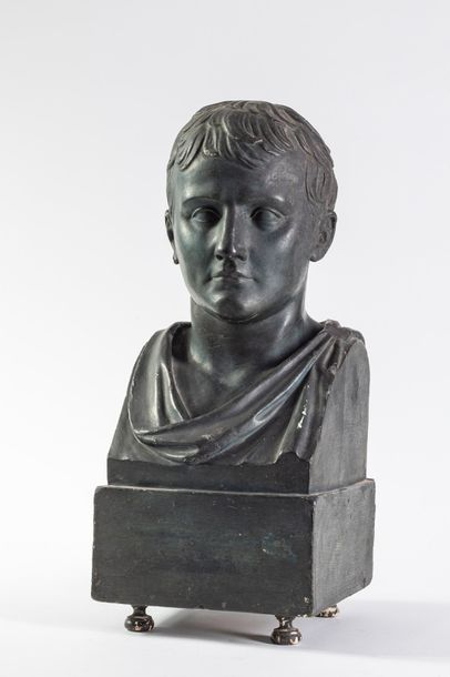 Buste de Napoléon Empereur en papier mâché...