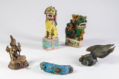 Petite sculpture sino-tibétaine on y joint...