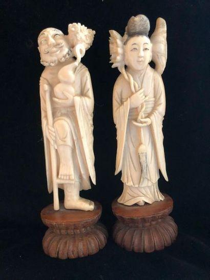 Okimono en ivoire, , fin XIXème siècle  ...