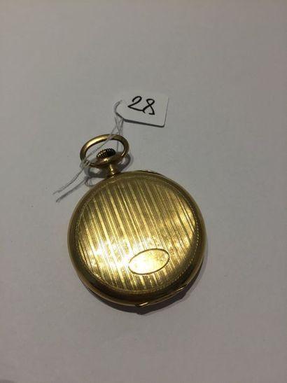 UNIC  MONTRE de POCHE en or jaune (750 millièmes)...