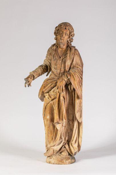 Importante statue en bois sculpté représentant...