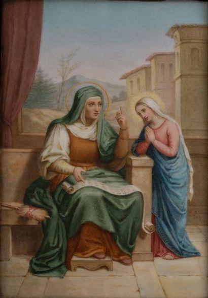Sainte Anne et la vierge Marie    Peinture...