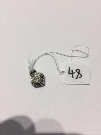 PENDENTIF « losangique » en or gris (750...