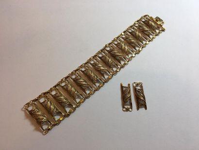 BRACELET MANCHETTE en or jaune (750 millièmes)...