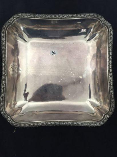 PLAT creux carré en argent (950 millièmes)...