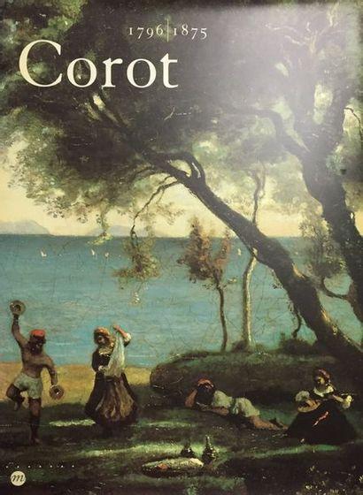 Lot de 5 ouvrages:  COROT (catalogue exposition // Kiki et Montparnasse, Flammarion...